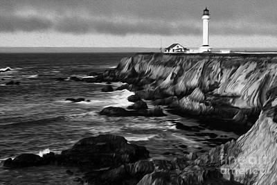 Photograph - Beauty Of California Point Arena Lighthouse 2 by Bob Christopher