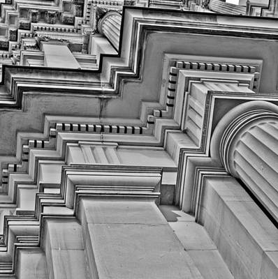 Photograph - Beauty Of Cast Stone Moulding by Mamie Thornbrue