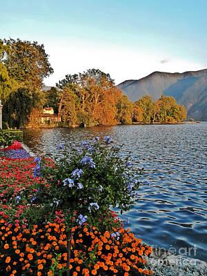 Beauty Of Lake Lugano Art Print
