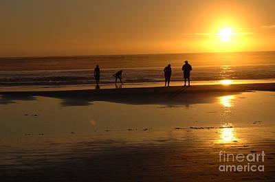 Beauty Of Oregon Sunset Cannon Beach Art Print by Bob Christopher