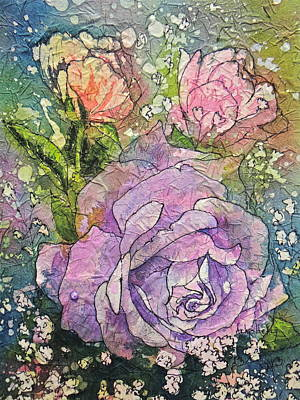 Painting - Beauty Of Roses by Arlys Hefty