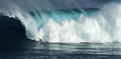 Photograph - Beauty Of Surfing Jaws Maui 1 by Bob Christopher