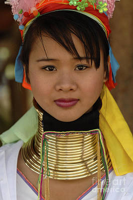 Hill Tribe Photograph - Beauty Of Thailand Long Necked Women 4 by Bob Christopher