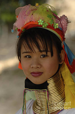 Photograph - Beauty Of Thailand Long Necked Women 6 by Bob Christopher