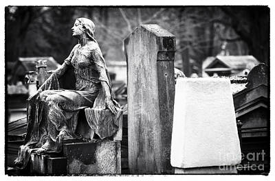 Beauty Of The Cemetery Art Print by John Rizzuto