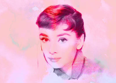 Audrey Hepburn Drawing - Beauty Of The Century by Steve K