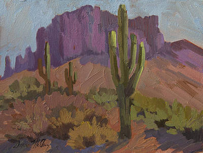 Superstition Mountains Painting - Beauty Of The Desert by Diane McClary