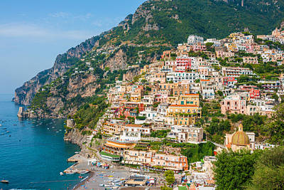 Beauty Of The Positano Art Print
