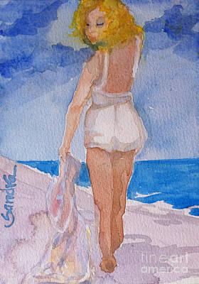 Ocean Painting - Beauty On The Beach by Sandra Stone