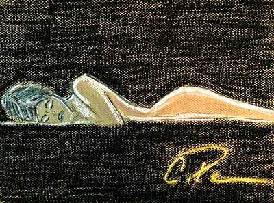 Drawing - Beauty Sleeps by Chrissy  Pena