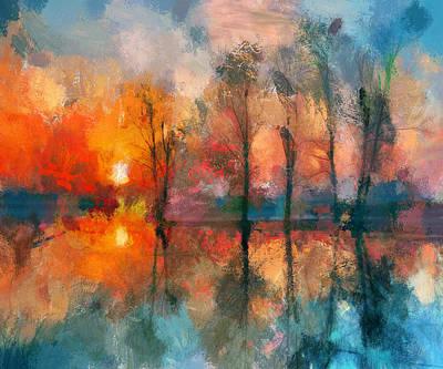 Beauty Sunset Art Print by Yury Malkov