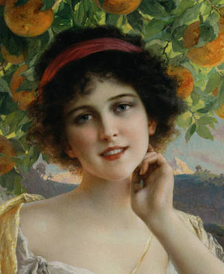 Digital Art - Beauty Under The Orange Tree Detail by Emile Vernon