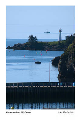 Beaver Harbour Nb Canada Art Print