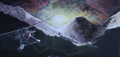 Painting - Beaver In Flight by Kija  Elstad