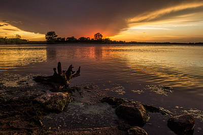 Beaver Lake Photograph - Beaver Lake Sunset by Aaron J Groen