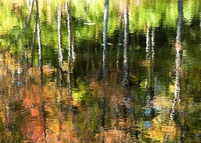 Beaver Pond Reflections 1 Gatineau Park Quebec Art Print by Rob Huntley