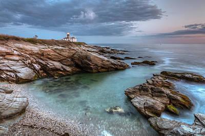 Photograph - Beavertail Lighthouse At Sunset by Joshua McDonough