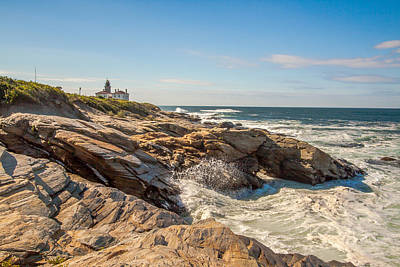 Photograph - Beavertail Lighthouse  by Brian MacLean
