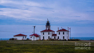 Photograph - Beavertail Lighthouse. by New England Photography