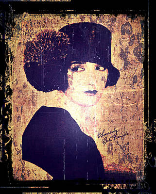Photograph - Bebe Daniels - 1920s Actress by Absinthe Art By Michelle LeAnn Scott