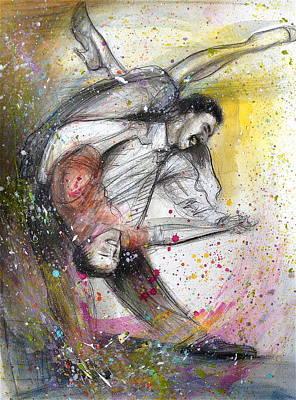 Bebop Dancing2 Art Print
