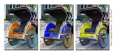 Jawa Photograph - Becak Jawa X3 by Nick Diemel