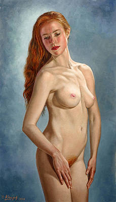 Figures Painting - Becca 419 by Paul Krapf