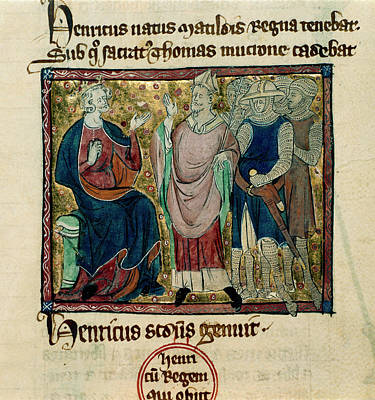 Aristocrat Photograph - Becket Before Henry II by British Library