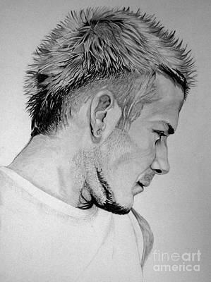 David Beckham Wall Art - Drawing - Beckham by Pooja Rohra