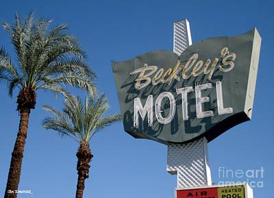 Googie Digital Art - Beckley's Motel Cathedral City by Jim Zahniser
