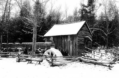 Becky Photograph - Becky Cable Mill In Snow by Terena Boone