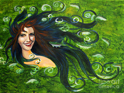 Art Print featuring the painting Lady Of The Lake by Denise Deiloh