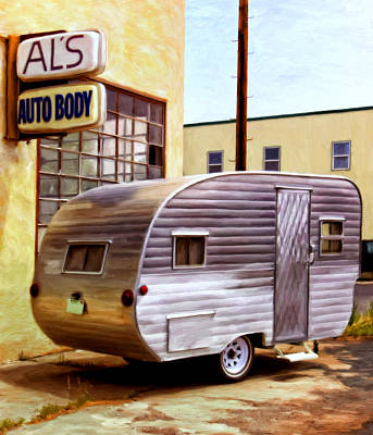 Becky's Vintage Travel Trailer Art Print