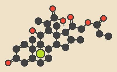 Aerosol Photograph - Beclometasone Dipropionate Drug Molecule by Molekuul