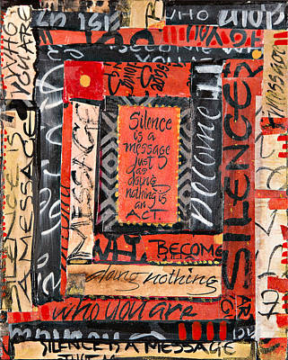 Cradle Board Mixed Media - Become Who You Are by Susan Jane Russell