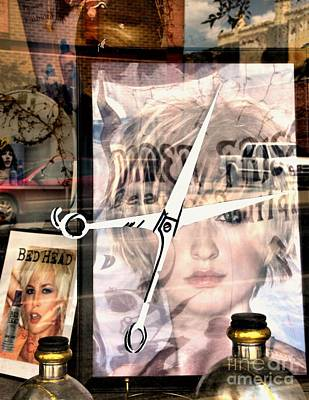 Sissors Photograph - Bed Head Collage by Lauren Leigh Hunter Fine Art Photography
