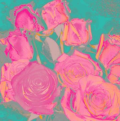 Art Print featuring the photograph Bed Of Roses I by Shirley Moravec