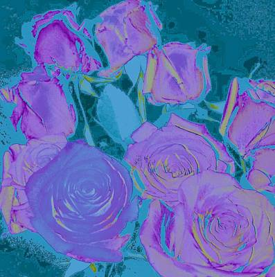 Art Print featuring the photograph Bed Of Roses II by Shirley Moravec