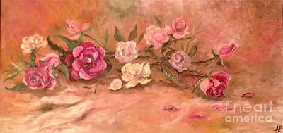 Painting - Bed Of Roses by Irene Pomirchy