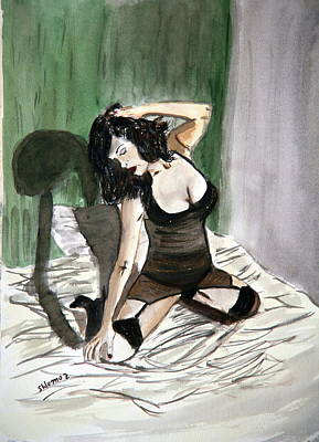 Bed Passion. Art Print