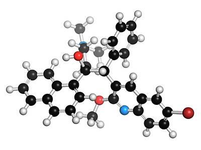 Molecule Photograph - Bedaquiline Tuberculosis Drug Molecule by Molekuul