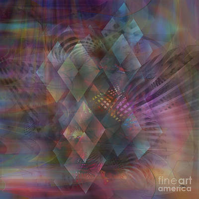 Digital Art - Bedazzled - Square Version by John Beck