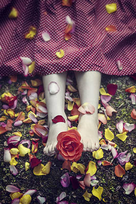 Bedded In Petals Print by Joana Kruse