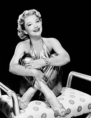 Gold Lame Photograph - Bedevilled, Anne Baxter, 1955 by Everett