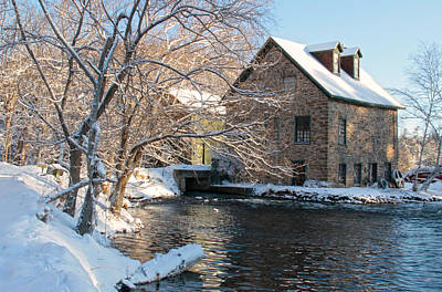 Photograph - Bedford Mill In Winter by Jim Vance