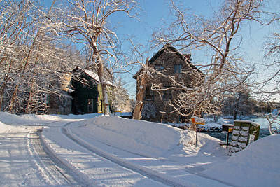 Photograph - Bedford Mill Winter Scene by Jim Vance