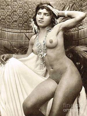 Photograph - Bedouin Girl Posed Nude by Roberto Prusso