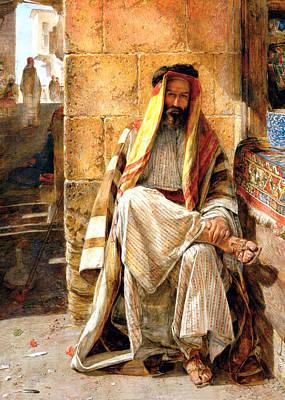 Orientalist Photograph - Bedouin Man by Munir Alawi