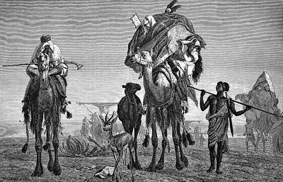 Camel Photograph - Bedouin Nomads by Bildagentur-online/tschanz