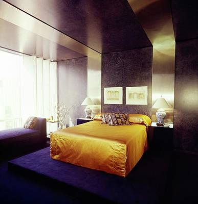 Photograph - Bedroom In Olympic Tower by Horst P. Horst